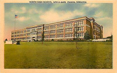 1925 Omaha North High postcard