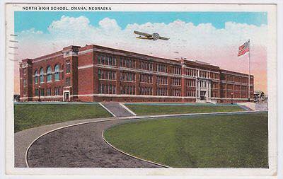 1937 Omaha North High School postcard