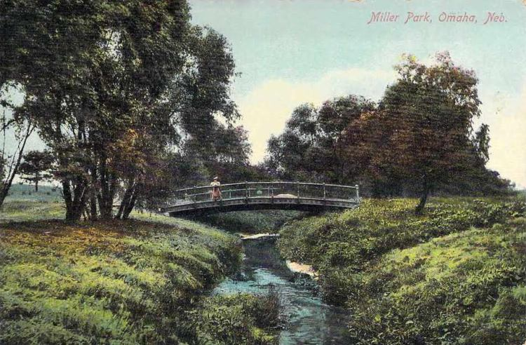 Expo Bridge over Minne Lusa Creek, Miller Park, North Omaha, Nebrasks