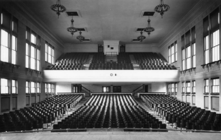 North's auditorium in the 1950s.
