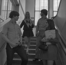 Students in a stairwell at North in 1971.