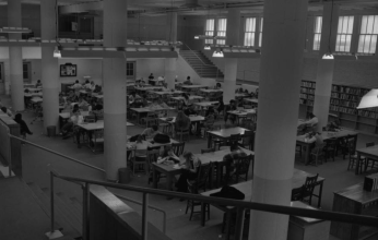 The study hall at North in 1971.