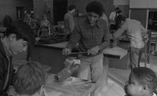 Students in a shop class at North in 1971.