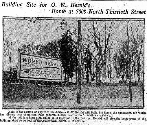 Omaha World-Herald House, 7008 North 30th Street in Florence Field, North Omaha, Nebraska
