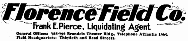 The Florence Field Company, North Omaha, Nebraska