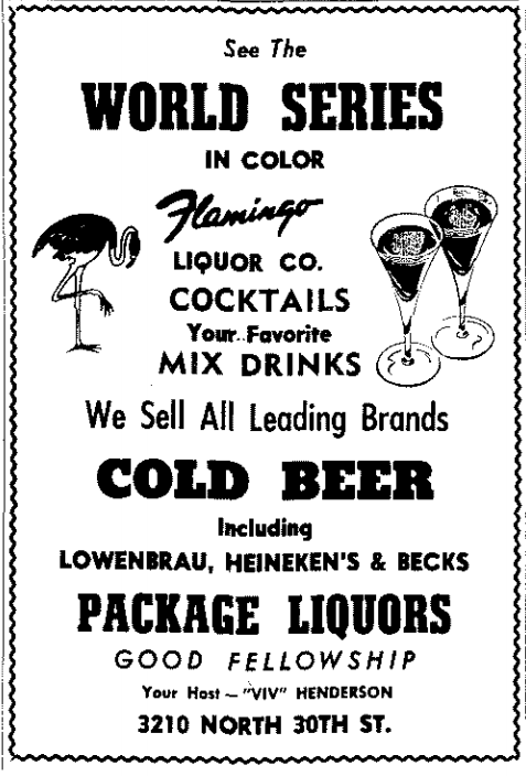 This 1969 ad was for the Flamingo, located at 3210 North 30th Street, North Omaha, Nebraska.