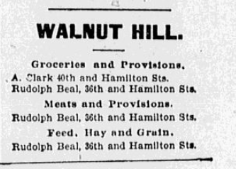 May 13, 1900 ad for Walnut Hill, North Omaha, Nebraska