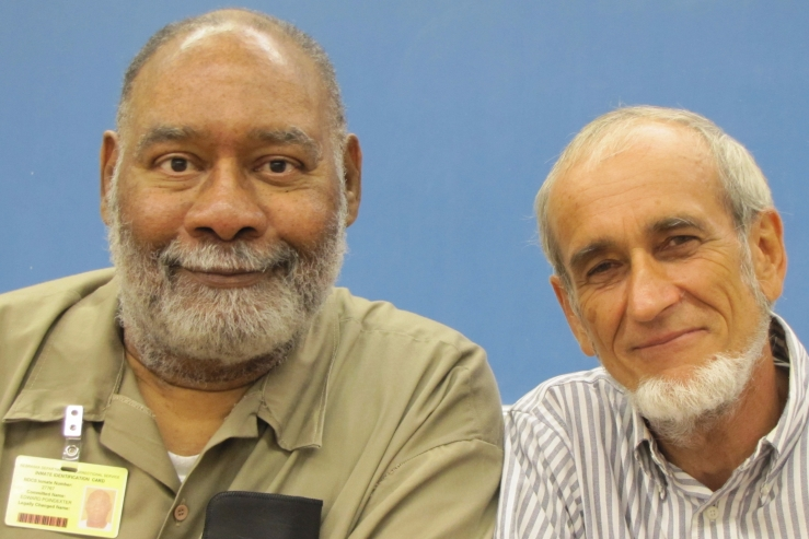 Edward Poindexter and writer Michael Richardson in 2016.
