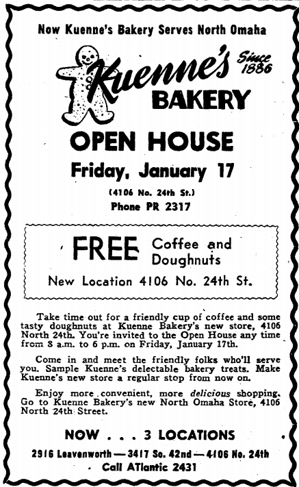 Kuenne's Bakery, 4106 North 24th Street, North Omaha, Nebraska