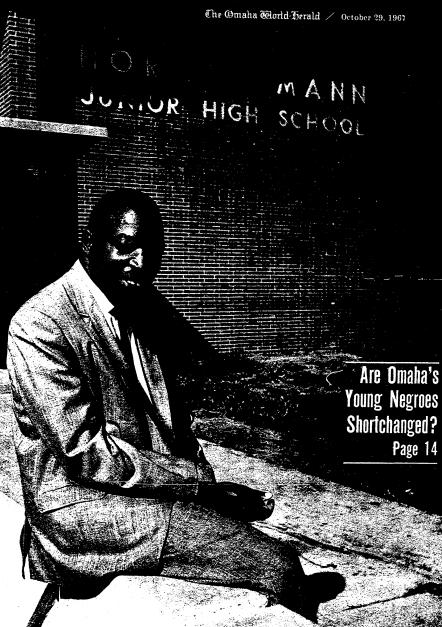 Eugene Skinner on the cover of an Omaha World Herald expose on October 29, 1967