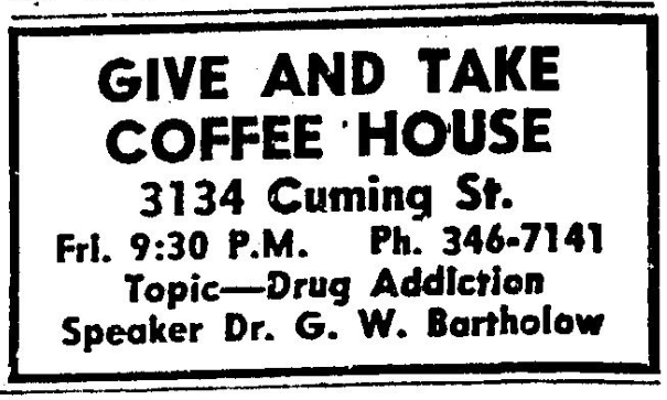 Give and Take Coffee House, 3134 Cuming Street, North Omaha, Nebraska.