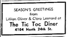 Tic Toc Diner, 4104 North 24th Street, North Omaha, Nebraska