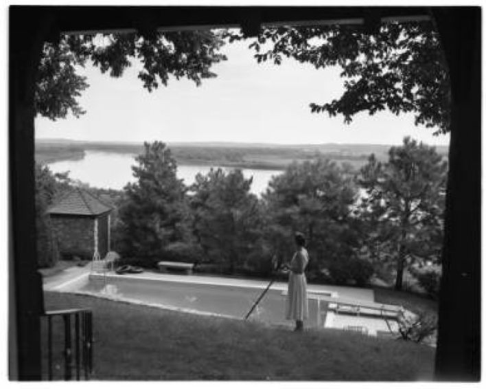 1956 Claude Reed House view from Wyman Heights to the Missouri River North Omaha Nebraska