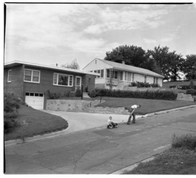 1956 Wyman Heights view North Omaha Nebraska