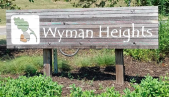2017 Wyman Heights sign