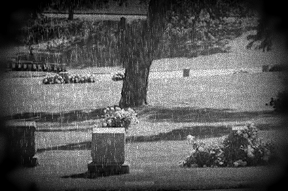 Forest Lawn in rain North Omaha Nebraska