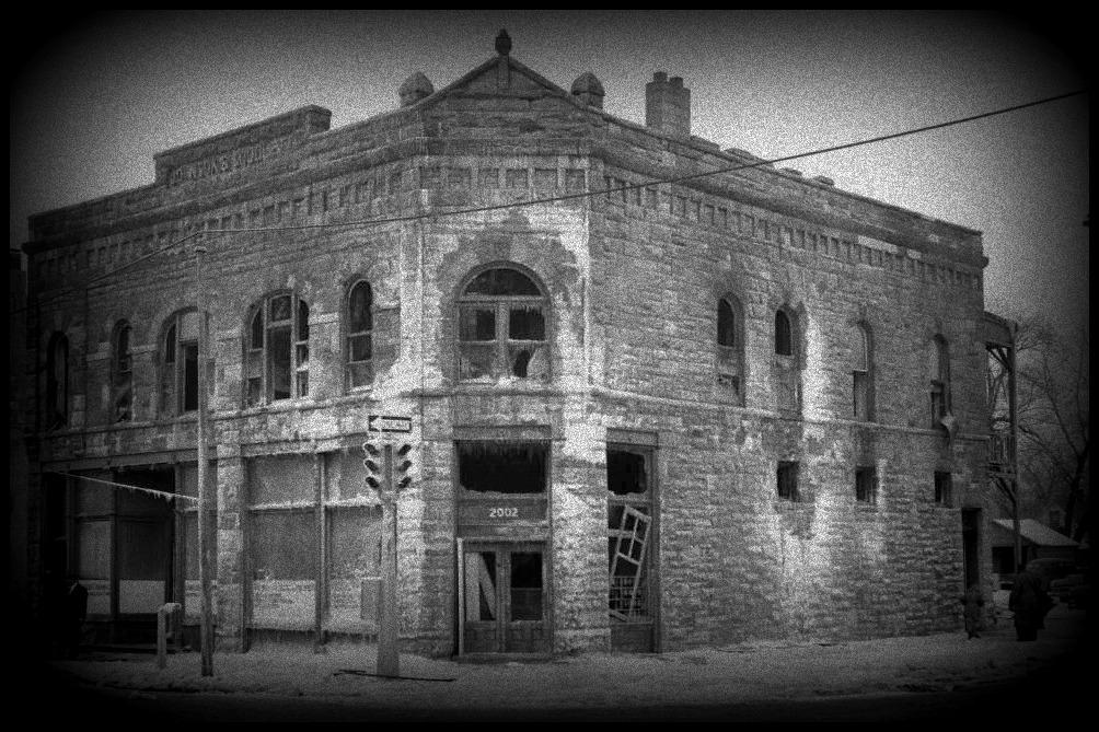 Goodlett Building after 1955 fire, North Omaha, Nebraska