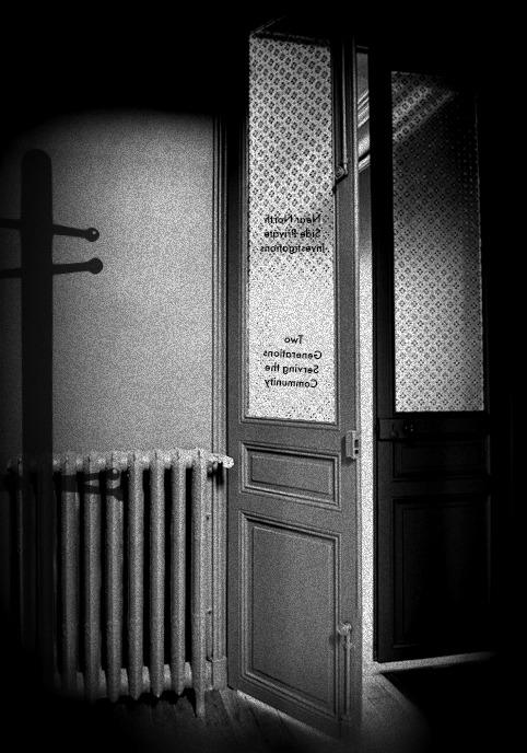 Keller Jefferson's Office Door, 24th and Lake Streets, North Omaha, Nebraska