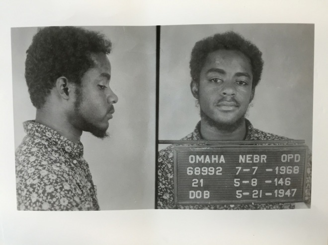 Mondo we Langa formerly David Rice 1968 Mug Shot Omaha Police Department Omaha Nebraska