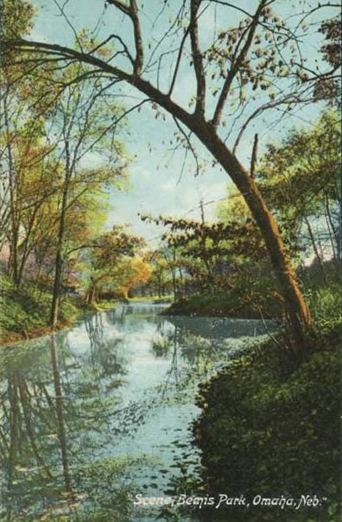 1907 postcard of Scenic Bemis Park North Omaha Nebraska