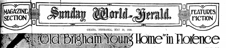 Old Brigham Young Home in Florence May 30 1926 North Omaha Nebraska