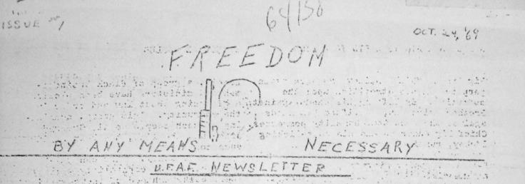 UFAF Newletter Header 1969