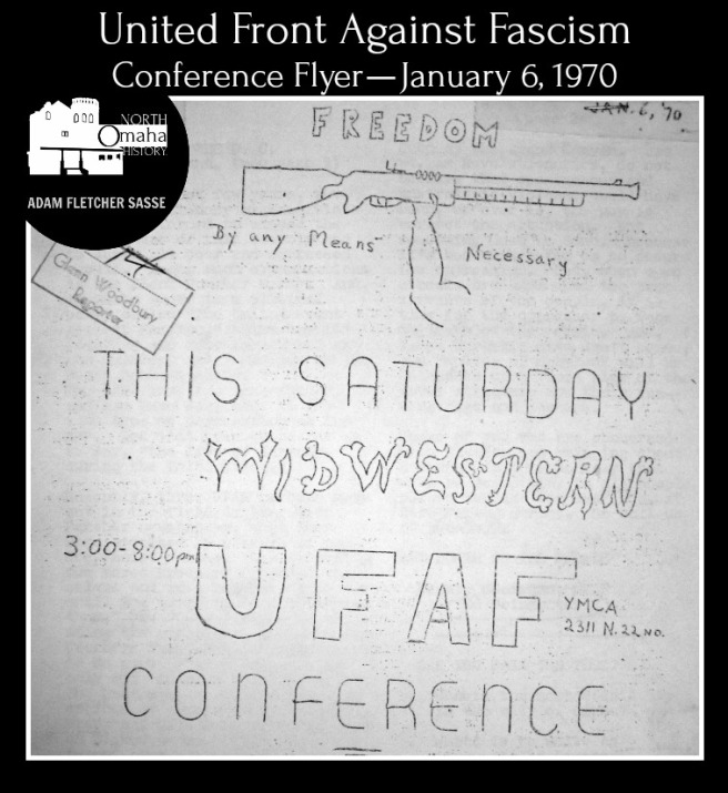 This is the heading of the United Front Against Fascism Newsletter from January 7, 1970. Mondo and Ed Poindexter sought to grow the Black Panther Party in the Midwest and organized a six-state conference held in Omaha. (credit: Trial Exhibit 14)