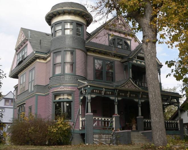 This isEdgar Zabriskie House 3524 Hawthorne Avenue Bemis Park Landmark Heritage District North Omaha Nebraska.