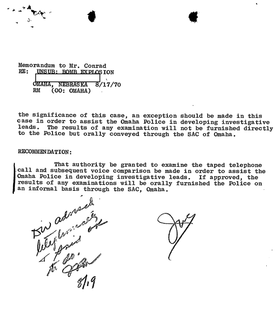 OK to do Letter July 17 1970