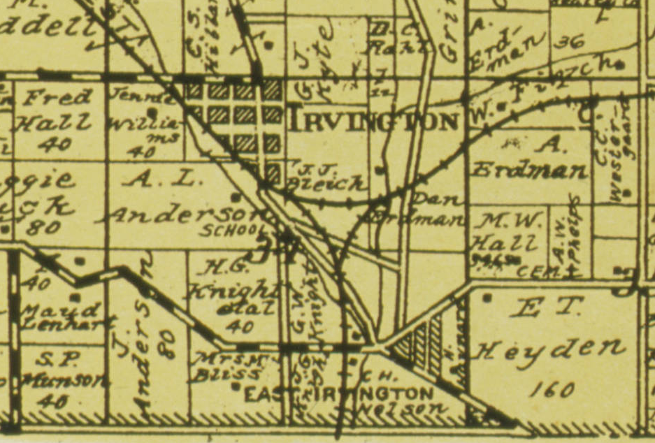 Irvington Nebraska in 1926
