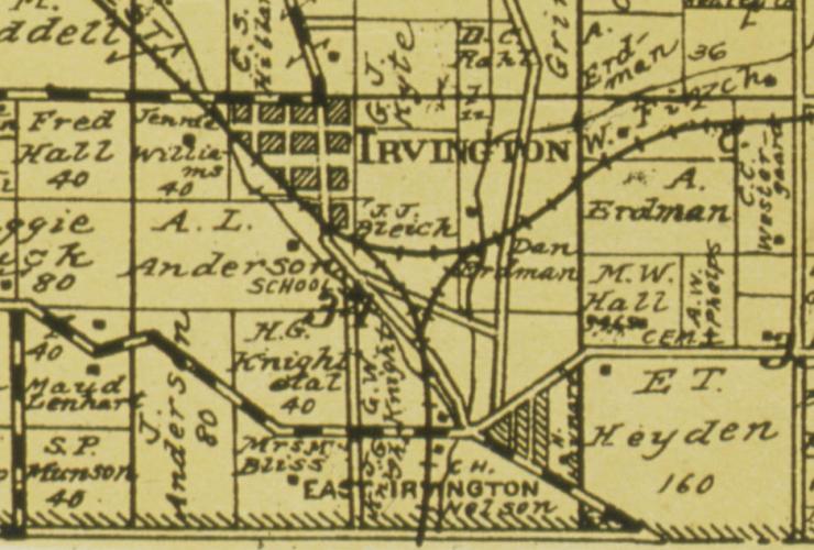Irvington Nebraska in 1926