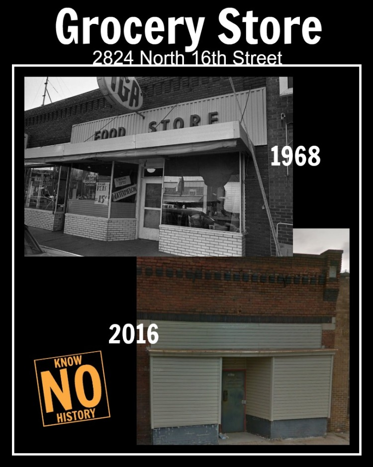 The IGA grocery store was at 2824 N. 16th St. in 1968 when it was ransacked during riots.