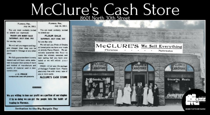 McClure's Cash Store was located at 8601 N. 30th St. in Florence.