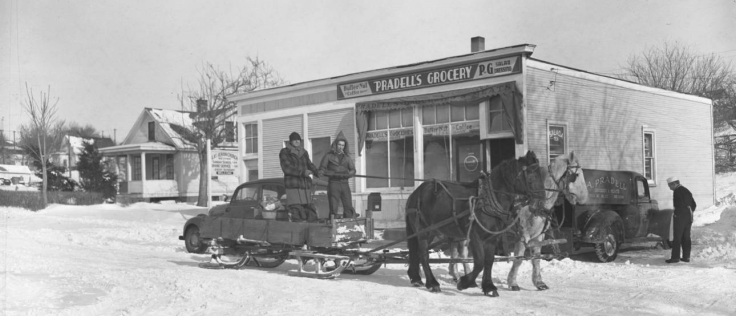 Hannah and Abe Pradell ran Pradell's Grocery at 5501 N. 35th Street near N. 35th and Jaynes in North Omaha, Nebraska, from 1919 to 1964.