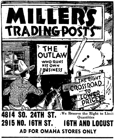 Millers Super Market, N. 16th and Locust Street, North Omaha