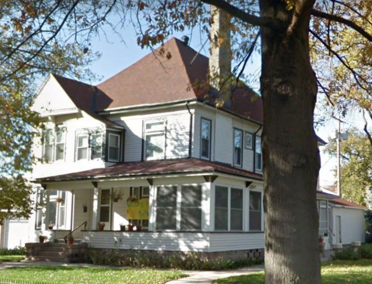 This is the Sacred Heart Catholic Church rectory, 2218 Binney Street, North Omaha, Nebraska.