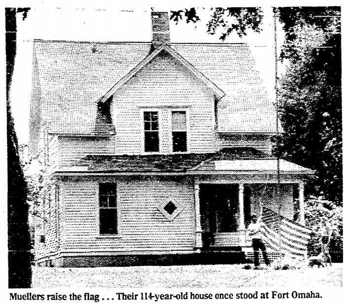 The Fort Omaha House in 1983