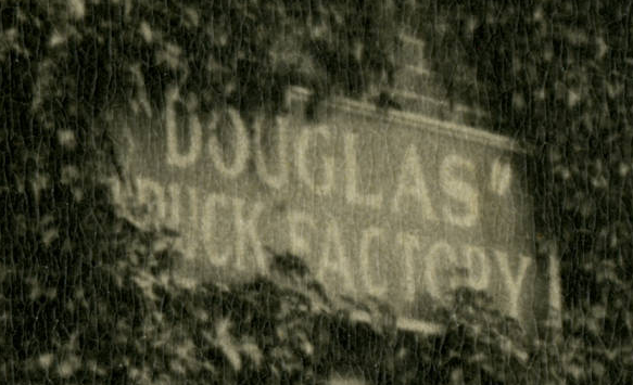 This was a sign on the Douglas Truck Factory at North 30th and Taylor Streets in the 1920s.