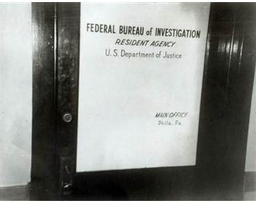 Door to the Media, Pennsylvania FBI office. (credit: Federal Bureau of Investigation)
