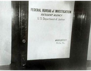 Door to the Media, Pennsylvania FBI office. (credit: Federal Bureau of Investigation)