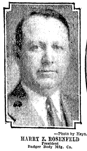Harry Rosenfeld, founder and owner, Badger Body and Equipment Company, North Omaha, Nebraska