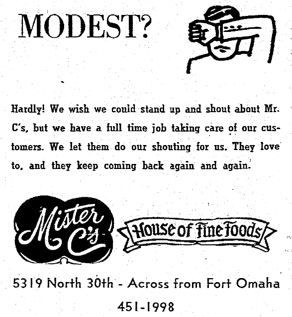 Mister C's House of Fine Foods, 5319 North 30th St., North Omaha, Nebraska
