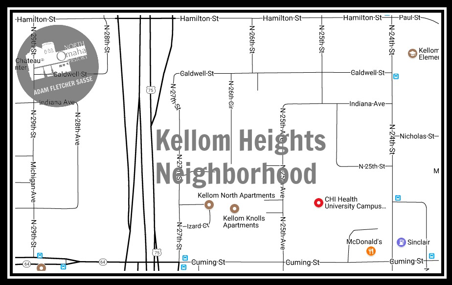Kellom Heights neighborhood, North Omaha, Nebraska