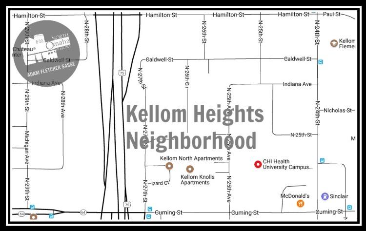 Kellom Heights neighborhood, North Omaha, Nebraska