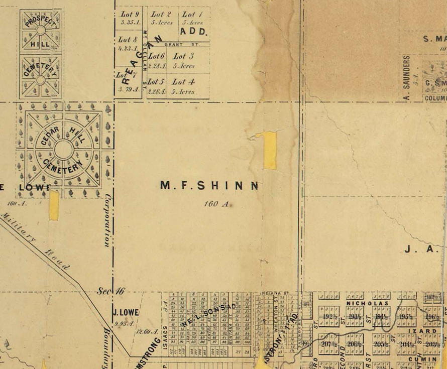 1860 Kellom Heights map, North Omaha, Nebraska
