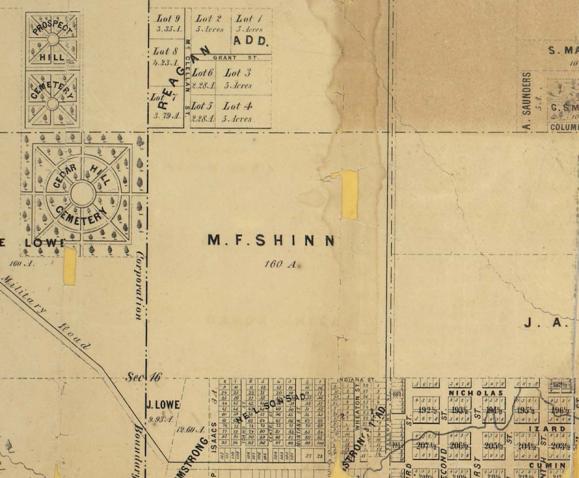 1860 Kellom Heights map, North Omaha, Nebraska