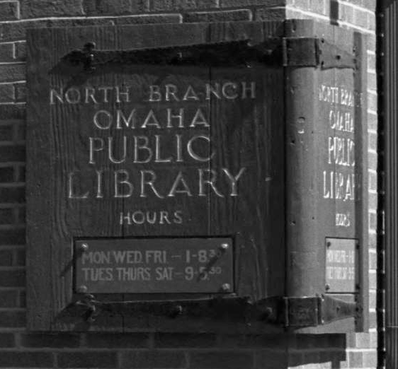North Branch, Omaha Public Library, N. 29th and Ames Avenue, North Omaha, Nebraska.