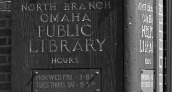 North Branch, Omaha Public Library, N. 29th and Ames Avenue, North Omaha, Nebraska.