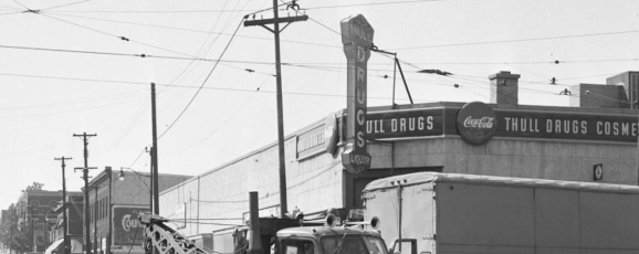 Cuming Street looking west from N. 24th in 1952