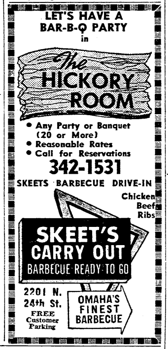 Skeet's BBQ at 2201 N. 24th Street, North Omaha, Nebraska